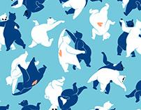 Dancing fauna patterns