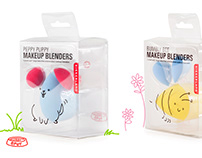Kikkerland Design - Cute Animal Makeup Blenders