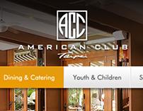 Website 官網建置提案 | American Club Taipei(ACC)