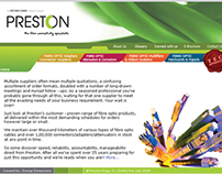Brochure & Website Design - Preston Cables