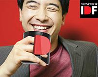 """D"" mug : 1st winner of IDF design competition, 2012"