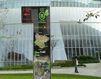8 totems señalizan las rutas a los montes de Bilbao