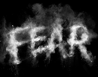 FEAR - typography for Secret Deodorant / Leo Burnett