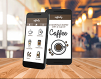 Mobile App UI for Coffee Lovers