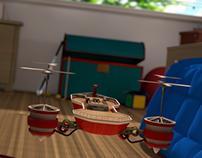 Flying Toy Ship