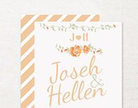 Convite de Casamento - Illustrator