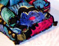 "Sabs ""small"" multicolor  Sofa"
