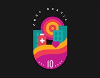 CURA Brazil 10th Anniversary Badge