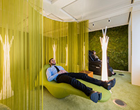 Power nap lounge at PWC office in Switzerland.