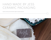 Hand Made by Jess || Ceramic Packaging