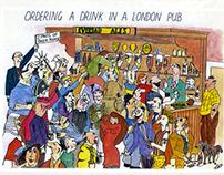 London postcard cartoons