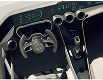 Automotive Interior concept sketches