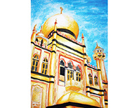Sultan Mosque Watercolour
