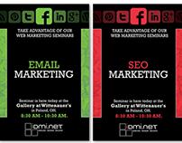 Marketting Seminar poster & Mailer series | IDMI.net