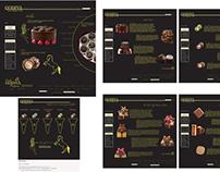 Godiva website layout