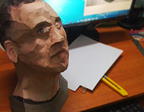 Paper Crafted Organic Model of face