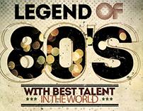 Legend Of 80'S Flyer Template