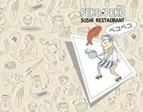 PEKO PEKO sushi restaurant menu cover