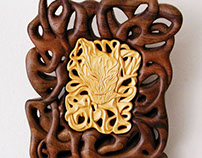 """Madness"" Wall Art Wood carving"