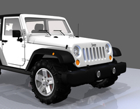 Jeep Wrangler Rubicon - 3D modeling