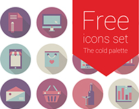 Free flat icons for landing page