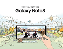 Galaxy Note8 Webpage illustration