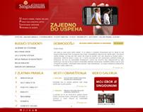 Singidunum University's Student Enrollment website
