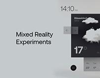 Mixed Reality Experiments