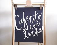 Cafecito con Leche Hand Lettered Print