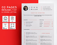 02 Pages Resume / CV