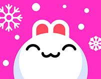 Snow Babbit — Animated Stickers