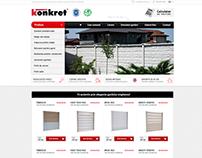 KONKRETLINE - producer of concrete fences ecommerce