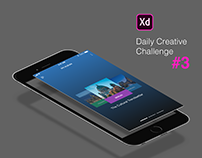 XD Daily Creative Challenge #3 Photo Album Mobile App