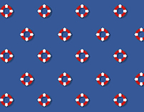 Blue sea Pattern