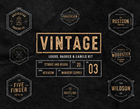 Vintage Badges Vol. 3 - Hexagon Collection