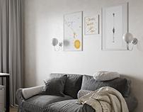 Комната для гостей. мой дизайн и визаулизация