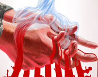 """Stained Hands (""""The New Yorker"""" mock-up cover)"""