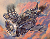 Steam punk plane concept
