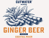 Cutwater Spirits Label Illustrations by Steven Noble