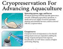 Cyropreservation and aquaculture