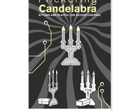 Flickering Candelabra Poster
