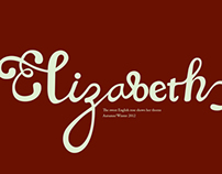 Elizabeth—hand lettering & fashion illustrations