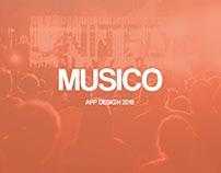 Musico App Design 2018