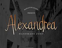 Alexandrea Handmade Font