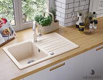 Aquasanita Granite Kitchen Sinks