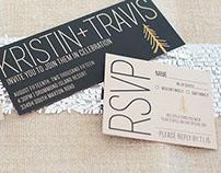 Kristin + Travis Wedding Invitation Suite
