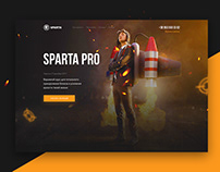 SPARTA PRO · Landing Page