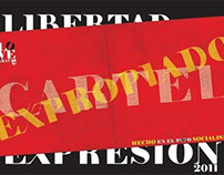 "Poster politico  ""Cartel Expropiado"""