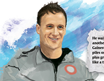 Ryan Lochte Digital Illustration
