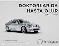 """Doctors Get Sick Too"" Mercedes Doctors Day Ad"